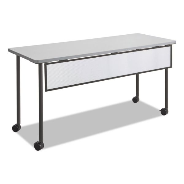 Safco Impromptu Modesty Panel, Polycarbonate/Steel, 54w x 1d x 9h, Black