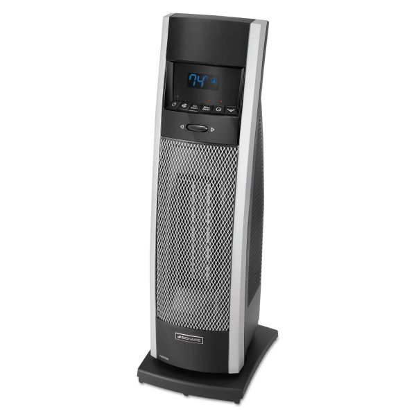 Bionaire Ceramic Mini Tower Heater with LCD Control, 1000-1500W, Black