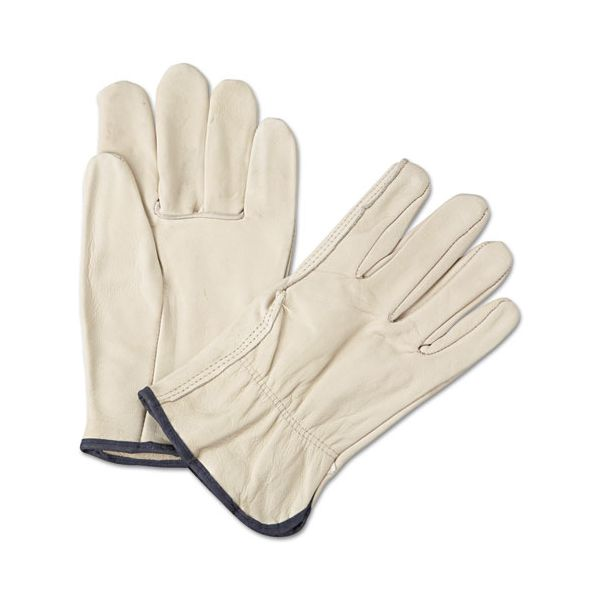 Anchor Brand 4000 Series Leather Driver Gloves, White, X-Large, 12 Pairs