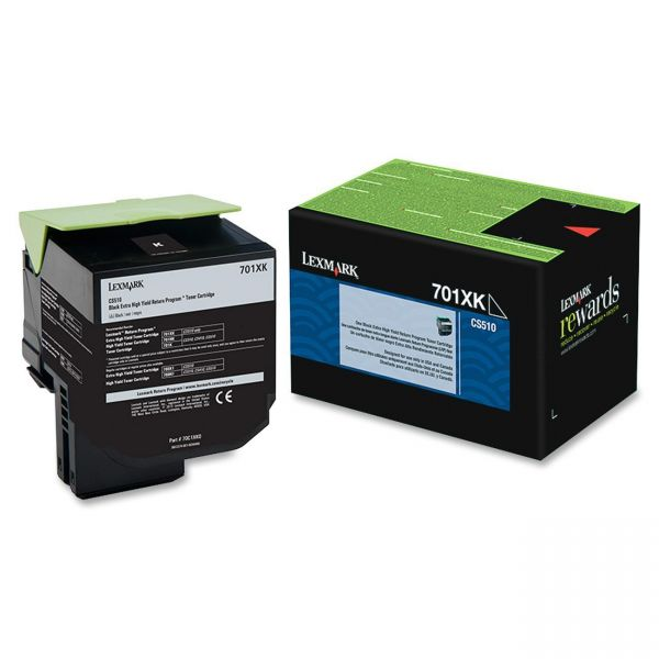 Lexmark 70C1XK0 Black Extra High Yield Return Program Toner Cartridge