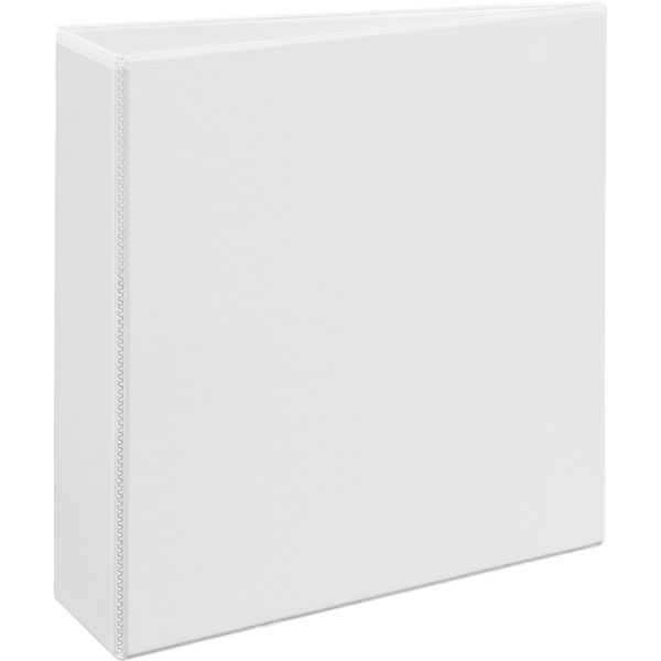 "Avery Heavy-Duty 3-Ring View Binder w/Locking 1-Touch EZD Rings, 3"" Capacity, White"