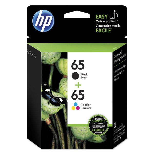 HP 65 Black & Tri-Color Ink Cartridges