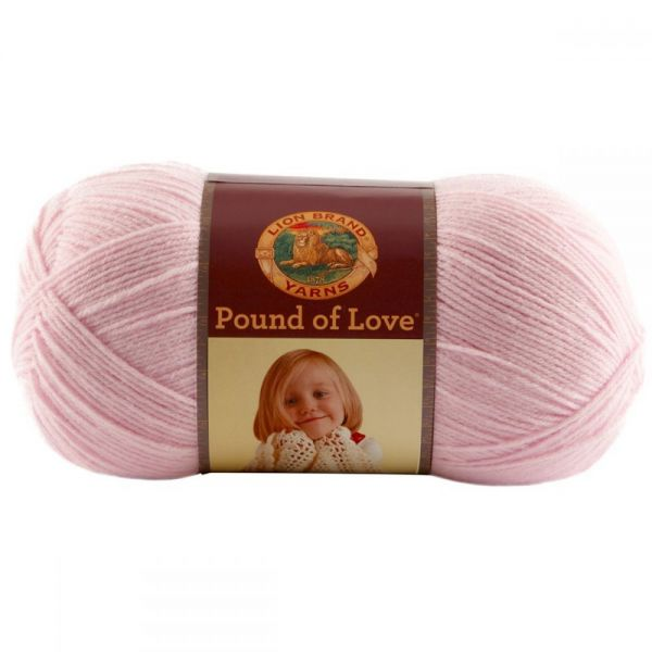 Lion Brand Pound Of Love Yarn - Pastel Pink