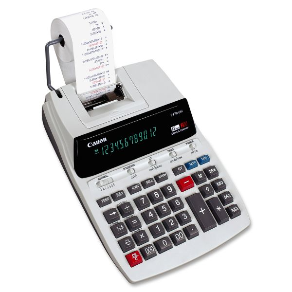 Canon P170DH Black & Red Printing Calculator