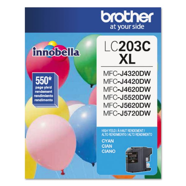 Brother Innobella LC203C XL Cyan Ink Cartridge