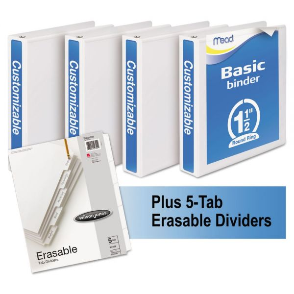 "Mead Economy 1 1/2"" 3-Ring View Binders"