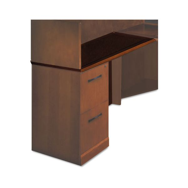 "Tiffany Industries Sorrento Series Left Return Top with Modesty Panel, 48"" Wide, Bourbon Cherry"