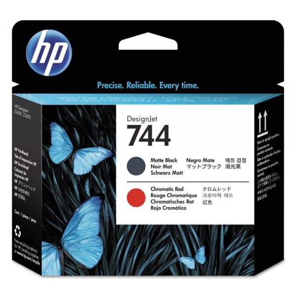 HP 744 Matte Black/Chromatic Red Printhead (F9J88A)