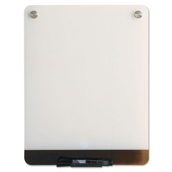 Iceberg Clarity Glass Personal Dry Erase Boards, Ultra-White Backing, 12 x 16