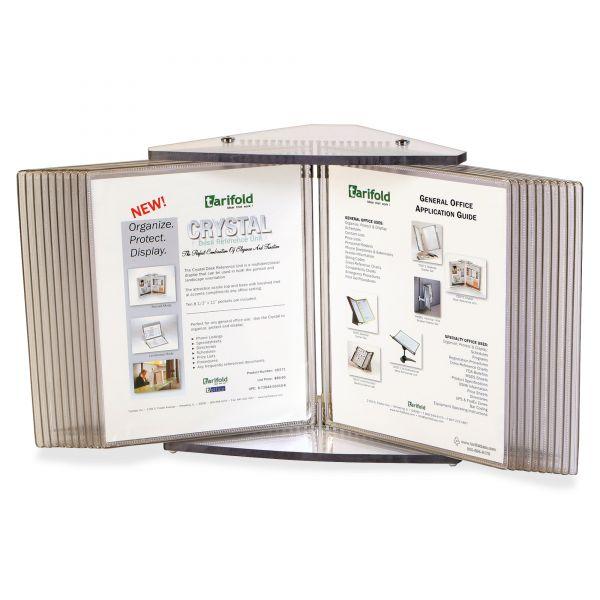 Tarifold, Inc. Crystal 20 Pocket Desk Reference Unit