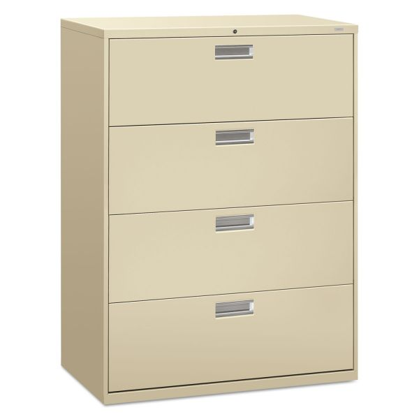 HON Brigade 600 Series 4-Drawer Lateral File