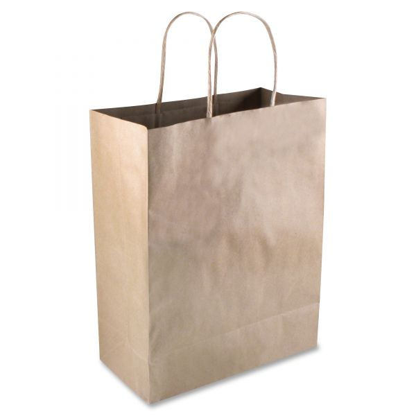 COSCO Premium Small Brown Paper Shopping Bags with Handles