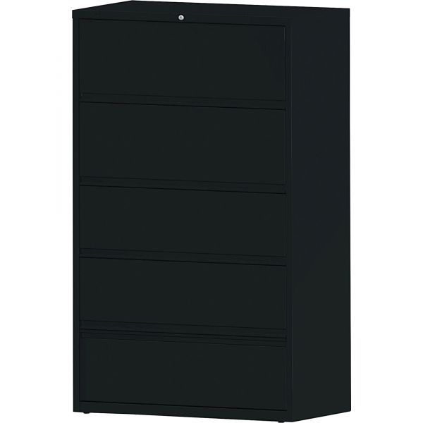 Lorell 5 Drawer Lateral File Cabinet with Roll Out Shelves