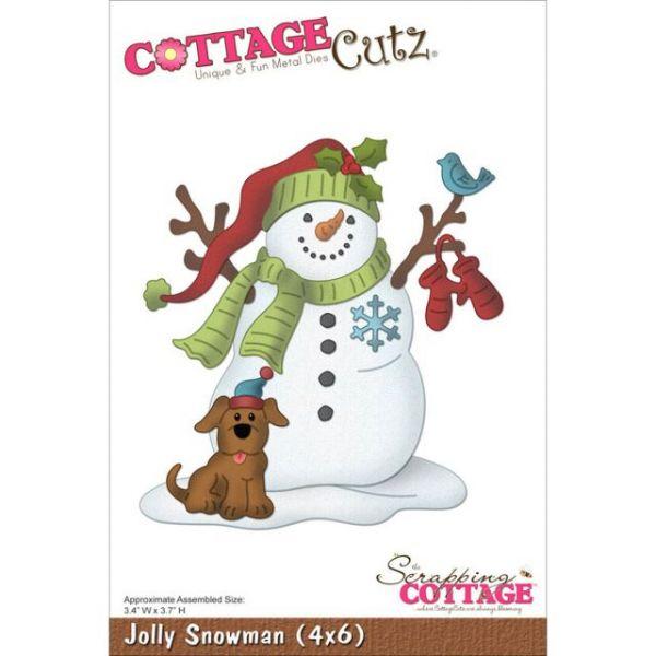 CottageCutz Jolly Snowman Die