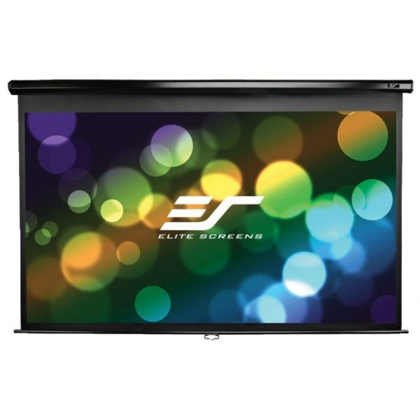 "Elite Screens M136UWS1 Manual Ceiling/Wall Mount Manual Pull Down Projection Screen (136"" 1:1 Aspect Ratio) (MaxWhite)"