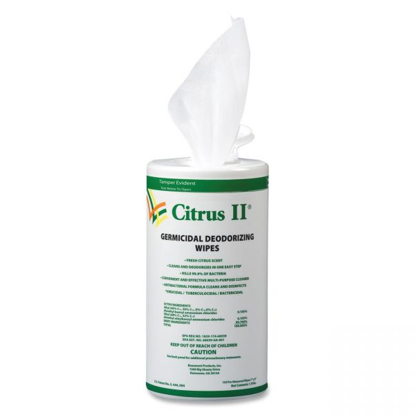 Citrus II Germicidal Deodorizing Wipes