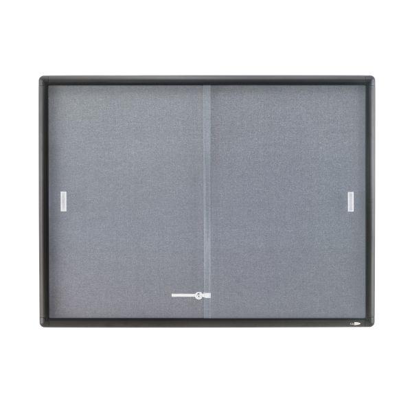 Quartet Indoor Use Enclosed Fabric Bulletin Board