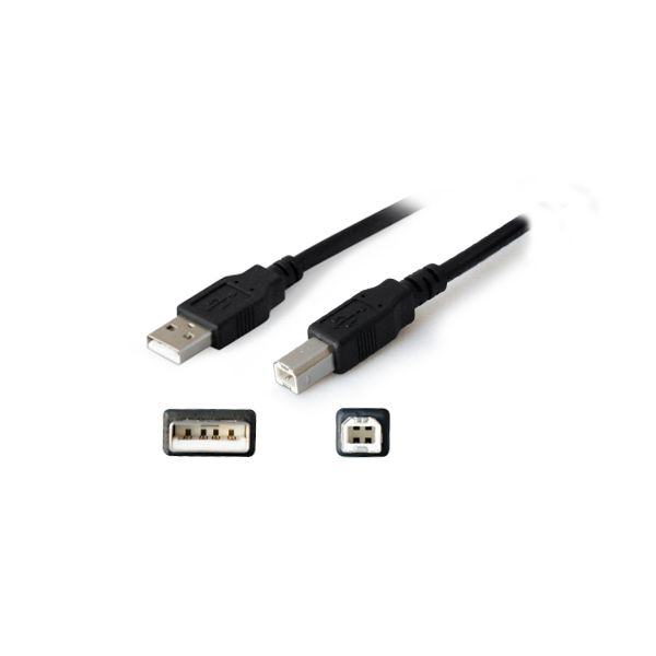 AddOn 6ft USB 2.0 (A) Male to USB 2.0 (B) Male Black Extension Cable