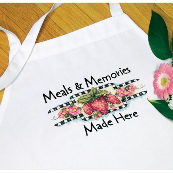 Meals & Memories Stamped Cross Stitch Apron