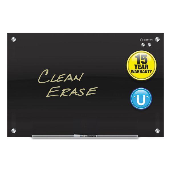 Quartet Infinity Magnetic Black Glass Dry Erase Board
