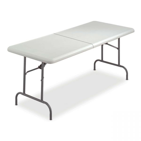 Iceberg IndestrucTable Too Rectangular Bi-Fold Folding Table