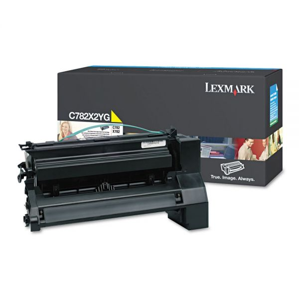 Lexmark C782X2YG Yellow Extra High Yield Toner Cartridge