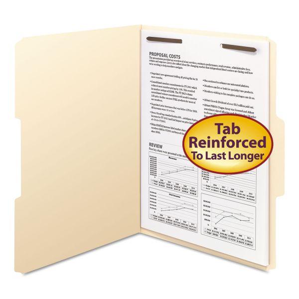 Smead Folders, One Fastener, 1/3 Cut Assorted, Top Tab, Letter, Manila, 50/Box