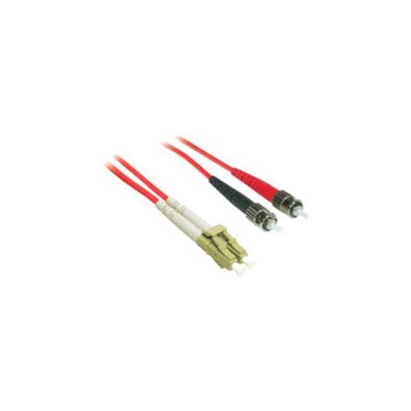 2m LC-ST 62.5/125 OM1 Duplex Multimode PVC Fiber Optic Cable - Red