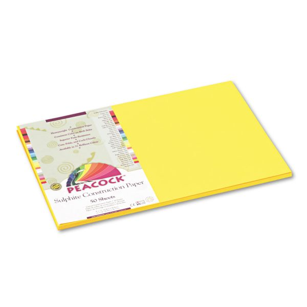 Peacock Sulphite Yellow Construction Paper