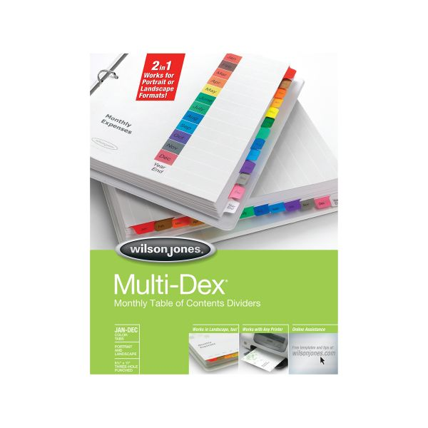 Wilson Jones MultiDex Monthly Index Dividers