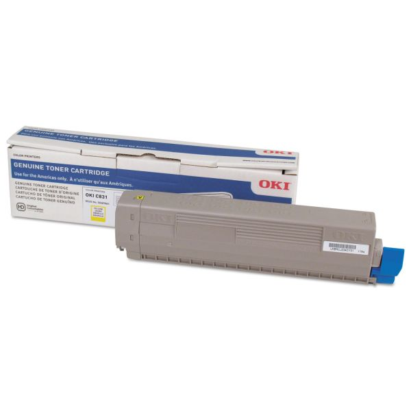 Oki 44844509 Yellow Toner Cartridge