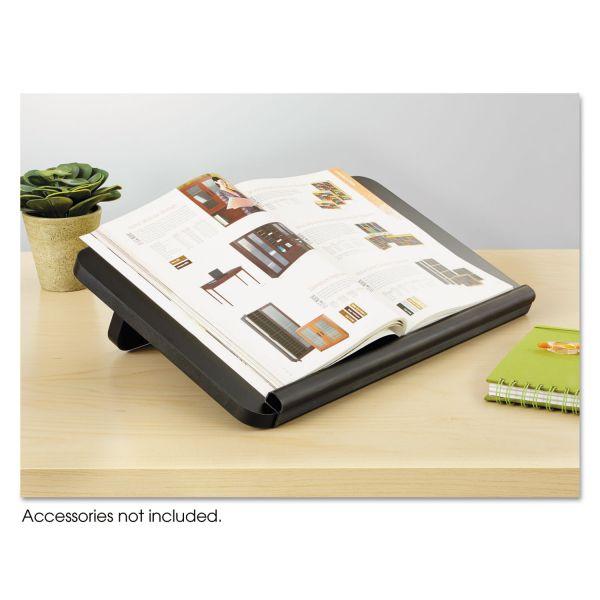 Safco Ergo-Comfort Read/Write Freestanding Desktop Copy Stand, Wood, Black