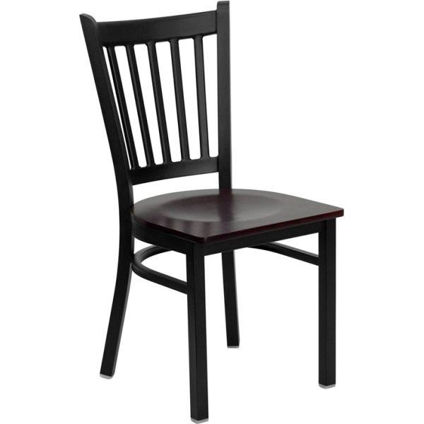 Flash Furniture Vertical Back Metal Restaurant Chair