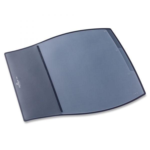 Durable Work Pad, 3 Overlays, 17 1/4 x 15 1/2, Black