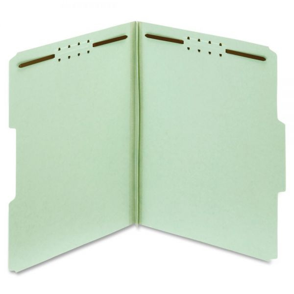 Globe-Weis 100% Recycled Presssboard File Folders With Fasteners