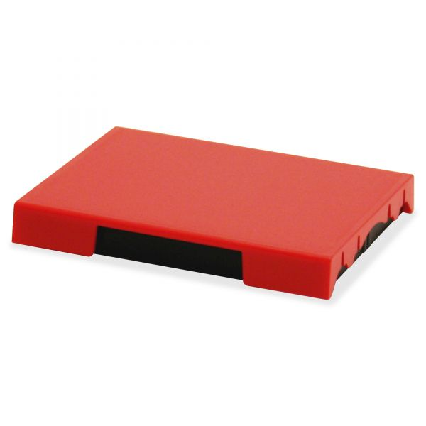 Identity Group Trodat T4727 Dater Replacement Pad, 1 5/8 x 2 1/2, Red