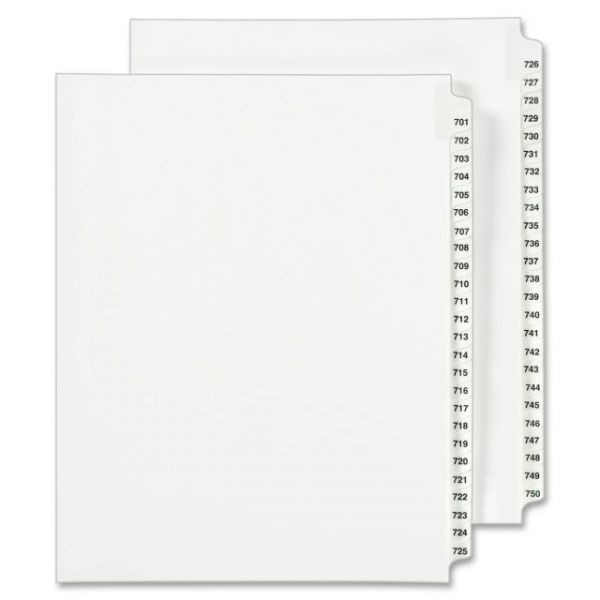 Avery Side Tab Legal Exhibit Index Dividers