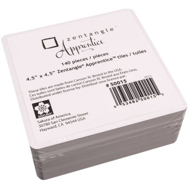 "Zentangle Apprentice Refill Tiles 4.5""X4.5"" 140/Pkg"