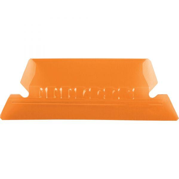 Pendaflex Hanging File Folder Tabs, 1/5 Tab, Two Inch, Orange Tab/White Insert, 25/Pack