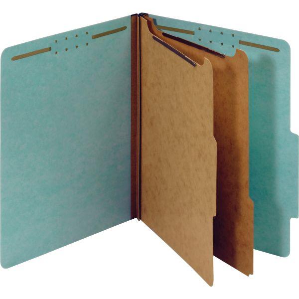 Globe-Weis Recycled Blue Pressboard Classification Folders