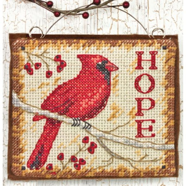 Hope Ornament Counted Cross Stitch Kit