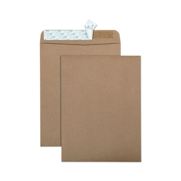 Quality Park 100% Recycled Brown Kraft Redi Strip Envelope, 10 x 13, Brown Kraft, 100/Box
