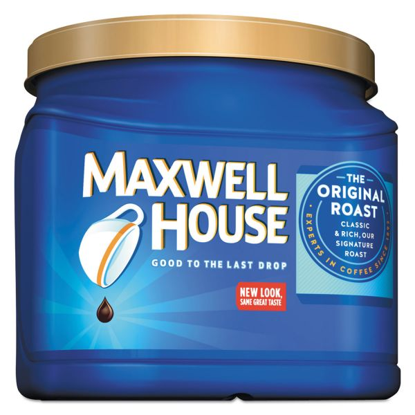 Maxwell House Coffee, Ground, Original Roast, 30.6 oz Canister, 6 Canisters/Carton