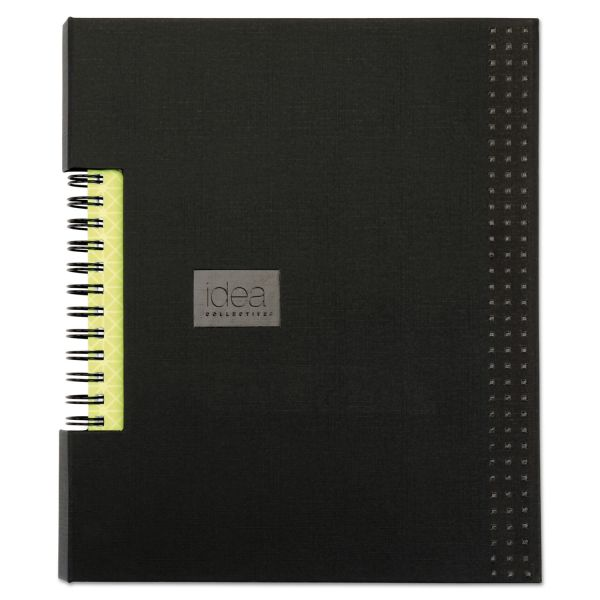 Oxford Idea Collective Professional Wirebound Hardcover Notebook, 8 1/4 x 5 7/8, Black