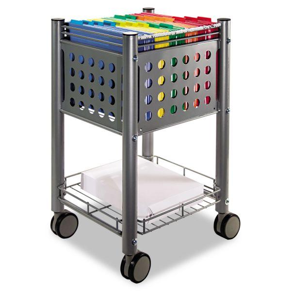 Vertiflex Sidekick File Cart, One-Shelf, 13 3/4w x 15 1/2d x 26 1/4h, Matte Gray