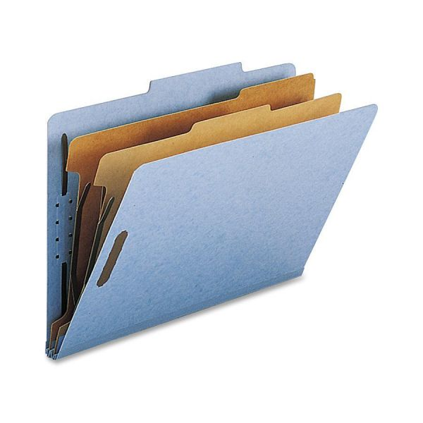 Nature Saver Blue 2-Divider Classification Folders