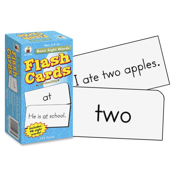 Basic Sight Words Flash Cards