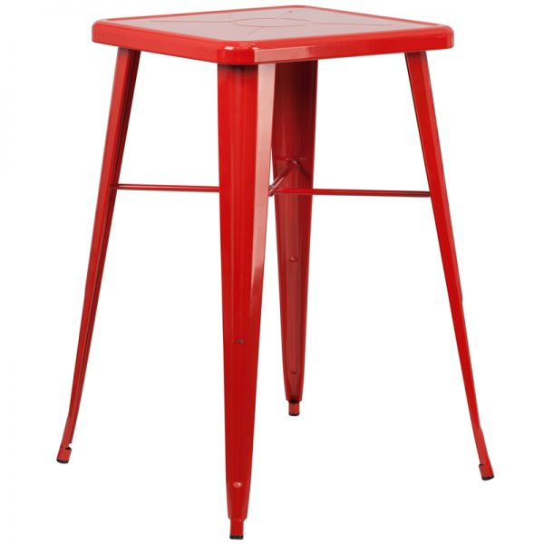 Flash Furniture Square Metal Bar Height Table