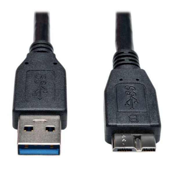 Tripp Lite USB 3.0 SuperSpeed Device Cable (A to Micro-B M/M) Black, 1-ft.