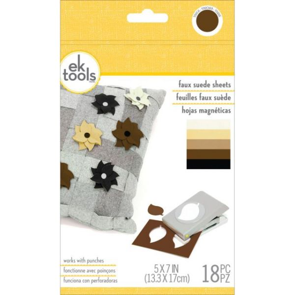 Faux Suede Sheets 18/Pkg